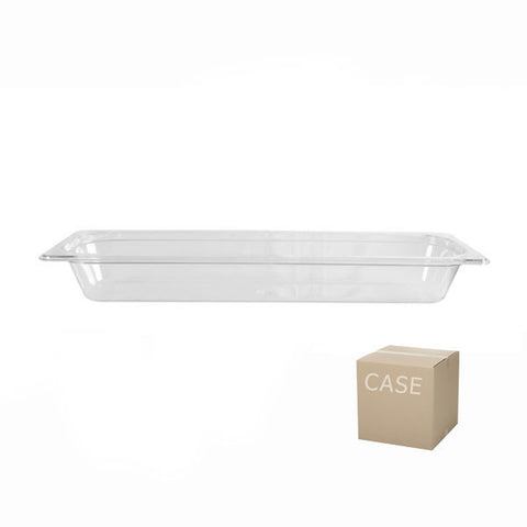 Thunder Group Clear Polycarbonate Half Size Long Food Pan (Case), Polycarbonate - eKitchenary