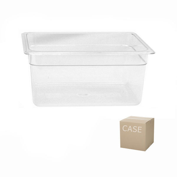 Thunder Group Clear Polycarbonate Half Size Food Pan (Case), Polycarbonate - eKitchenary