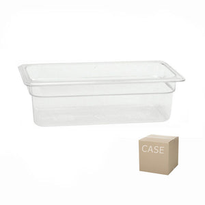 Thunder Group Clear Polycarbonate Third Size Food Pan (Case), Polycarbonate - eKitchenary