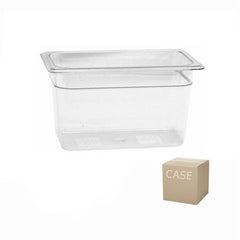 Thunder Group Clear Polycarbonate Fourth Size Food Pan (Case)
