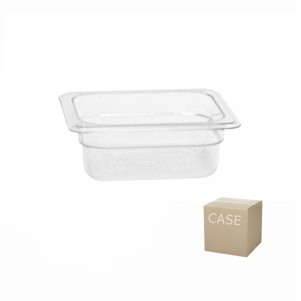 Thunder Group Clear Polycarbonate Sixth Size Food Pan (Case)