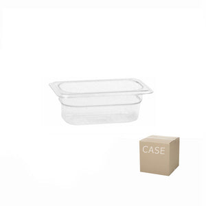 Thunder Group Clear Polycarbonate Ninth Size Food Pan (Case), Polycarbonate - eKitchenary