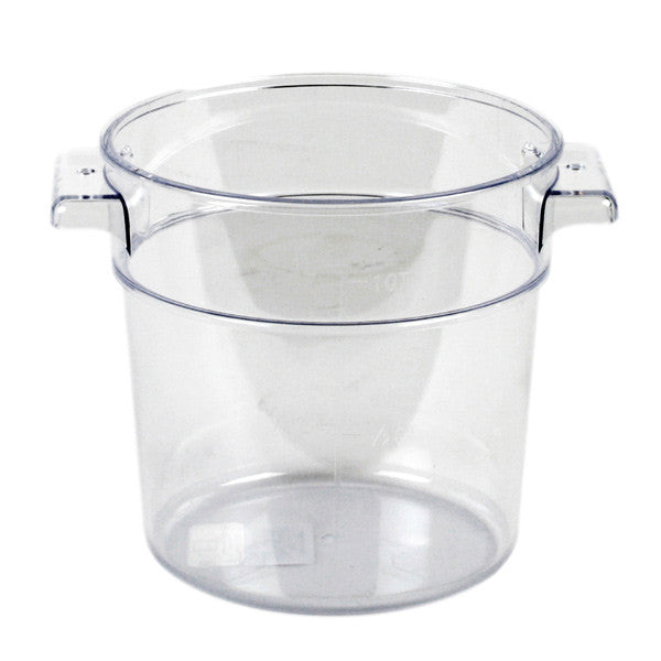 Thunder Group Polycarbonate Round Food Storage, Clear
