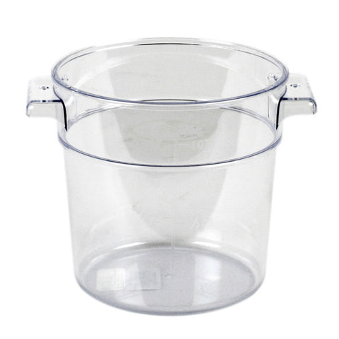 Thunder Group Polycarbonate Round Food Storage, Clear (Case), Polycarbonate - eKitchenary