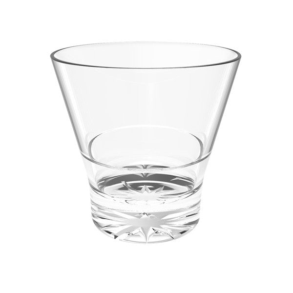 Polycarbonate Starburst Base Rock Glasses (12 Pack), Tabletop - eKitchenary