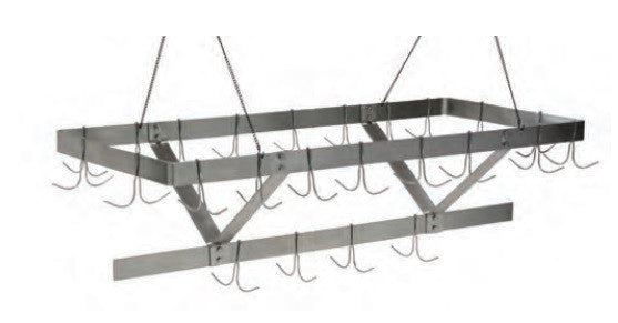Stainless Steel Ceiling Mount Pot Rack