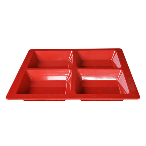 Melamine Passion Divided Section Tray (6 Pack)