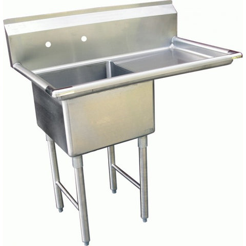 One Tub Compartment Sink w/ Right Drain Board, Equipment - eKitchenary