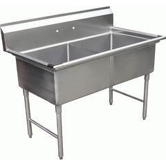 Two Tub Compartment Sink w/ No Drain Board, Equipment - eKitchenary