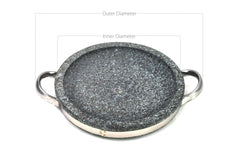 Korean Stone Grill Pan with Handles, Dolpan 돌판
