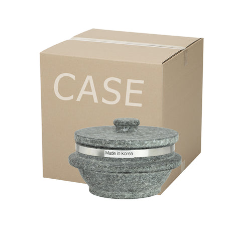 Korean Stone Pot with Rim, Dolsot 돌솥 (Case-10pcs), Stone - eKitchenary