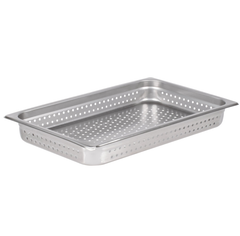Thunder Group Stainless Steel Steam, Food, and Hotel Pan Full Size Perforated