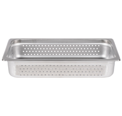 Thunder Group Stainless Steel Steam, Food, and Hotel Pan Full Size Perforated (Case), Stainless Steel - eKitchenary