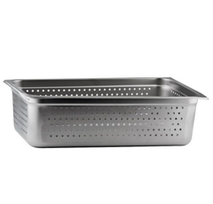 Thunder Group Stainless Steel Steam, Food, and Hotel Pan Full Size Perforated, Stainless Steel - eKitchenary