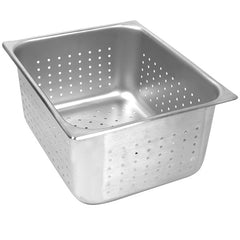 Thunder Group Stainless Steel Steam, Food, and Hotel Pan 1/2 Size Perforated (Case)