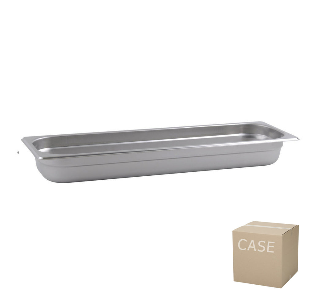 Thunder Group Stainless Steel Steam, Food, and Hotel Pan Half Size Long (Case), Stainless Steel - eKitchenary