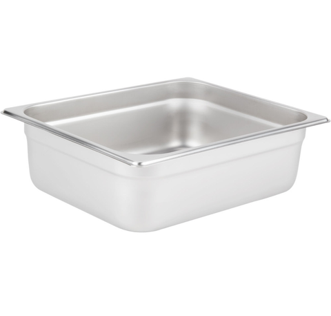 Thunder Group Stainless Steel Steam, Food, and Hotel Pan 1/2 Size, Stainless Steel - eKitchenary
