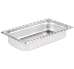Thunder Group Stainless Steel Steam, Food, and Hotel Pan 1/3 Size (Case), Stainless Steel - eKitchenary