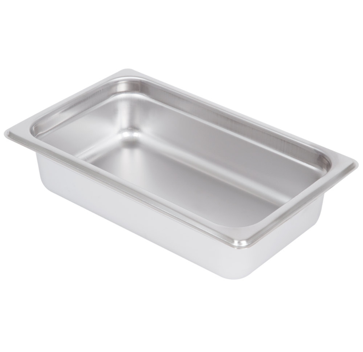 Thunder Group Stainless Steel Steam, Food, and Hotel Pan 1/4 Size (Case), Stainless Steel - eKitchenary