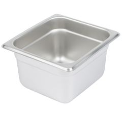 Thunder Group Stainless Steel Steam, Food, and Hotel Pan 1/6 Size