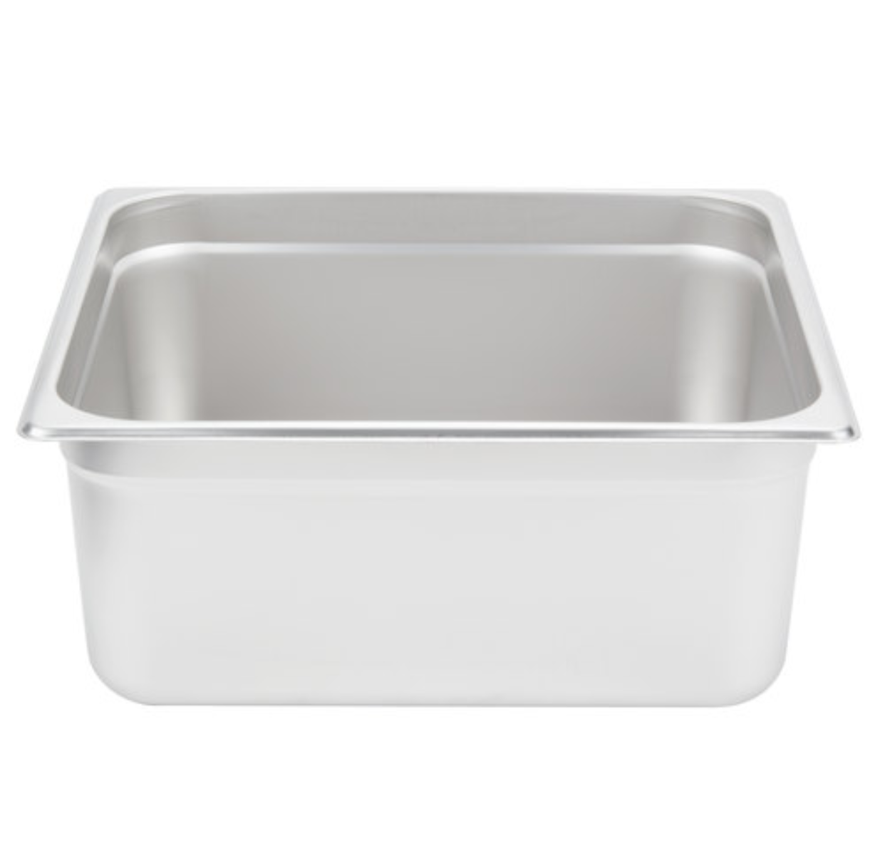 Thunder Group Stainless Steel Steam, Food, and Hotel Pan 2/3 Size (Case), Stainless Steel - eKitchenary