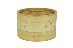 2-Tier Stack-able Bamboo Steamer Set (대나무 찜기), Cookware - eKitchenary