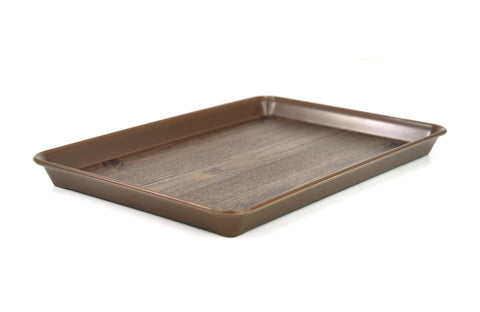 Plastic Tray, Wood Design