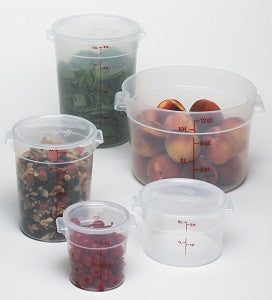 Cambro Round Translucent Container (Case), Food Container - eKitchenary