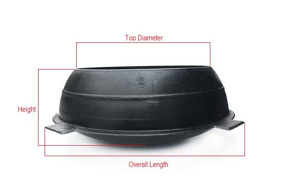 Korean Cast Iron Traditional Cooking Pot with Lid, Gamasot 가마솥, Cast Iron - eKitchenary
