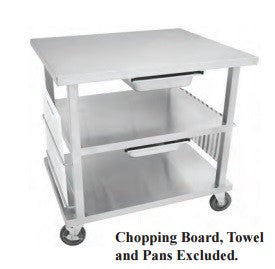Multi-Functional Stainless Steel Work Top Cart