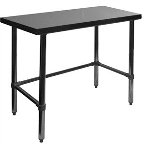 Flat Stainless Steel Open Base Work Tables, Equipment - eKitchenary