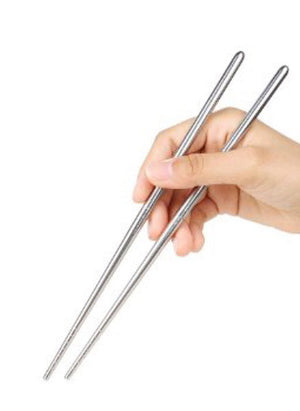 Stainless Steel Hollow Chopsticks, Stainless Steel - eKitchenary