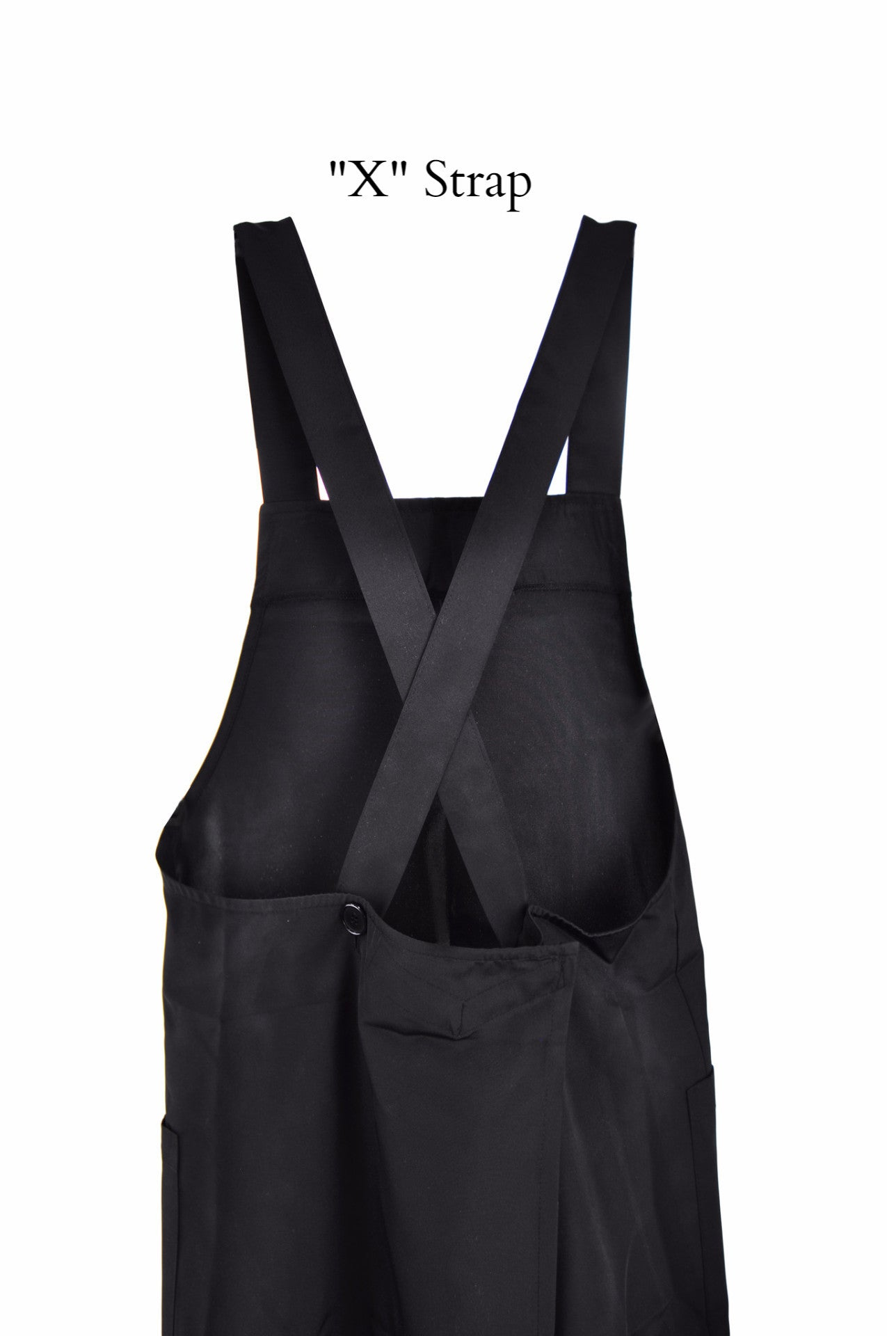 Shoulder Strap Apron, Polyester Blend (Black), Apron - eKitchenary