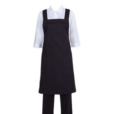 Shoulder Strap Apron, Polyester Blend (Black)