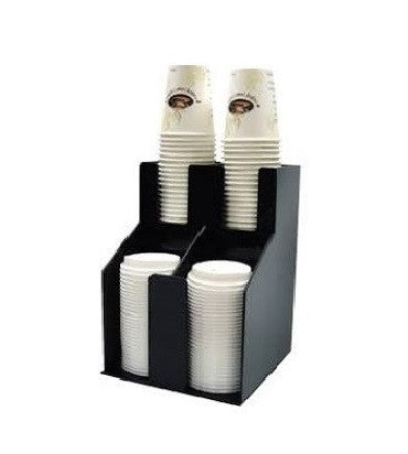 Cup & Lid Organizers, Black, Tabletop - eKitchenary