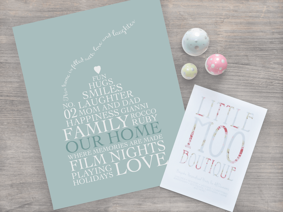 Personalised Home Decoration Prints