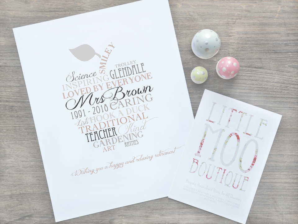 Personalised Teacher & Graduation Gifts