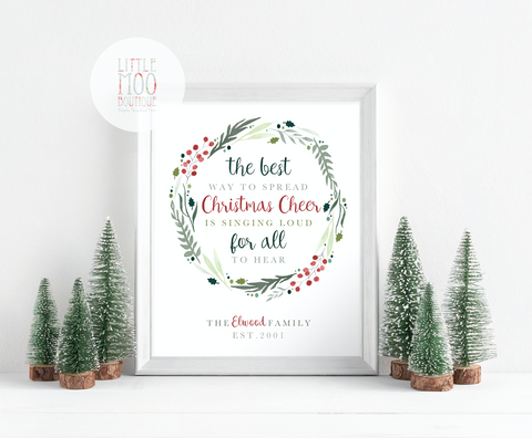 Personalised Christmas Cheer Print