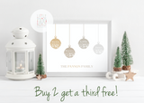 Personalised Baubles Offer Print