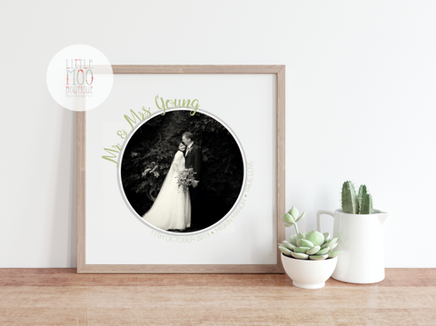 Personalised Mr & Mrs Image Print