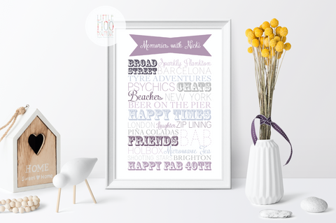 Personalised Memories with [Name] Print