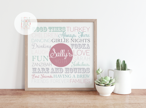 Personalised Square Memories Print