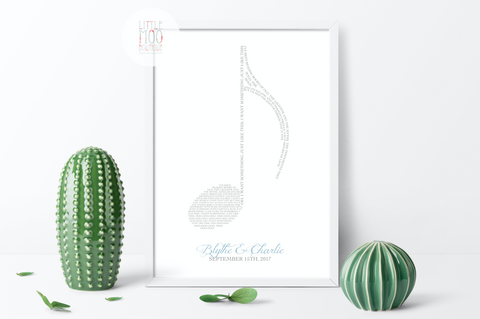 Personalised Musical Note Print
