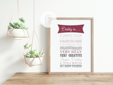 Personalised Dad is... Print