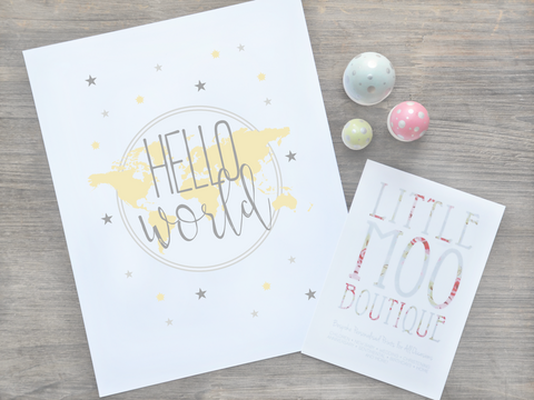 Personalised Hello World Print