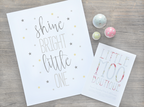 Personalised Shine Bright Print
