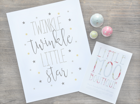 Personalised Twinkle Star Print