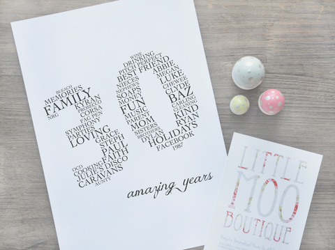 Personalised Amazing Years (2 Digits) Print-Little Moo Boutique