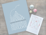 Personalised Our Home Print