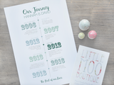 Personalised Our Journey Print | Little Moo Boutique